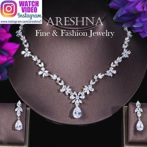 Floral Swarovski Luxury Bridal Jewelry Set
